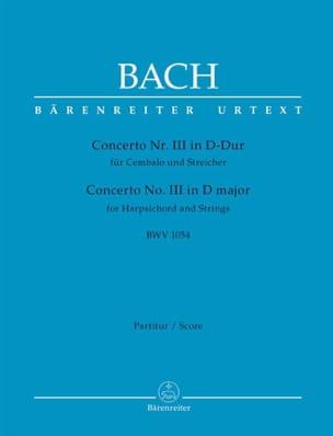 Concerto n° 3 BWV 1054 BACH Partition Grand format - laflutedepan