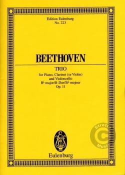 Klavier-Trio B-Dur, opus 11 BEETHOVEN Partition laflutedepan