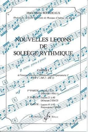 Nouvelles lecons de solfège rythmique Volume 1 BOURDEAUX laflutedepan