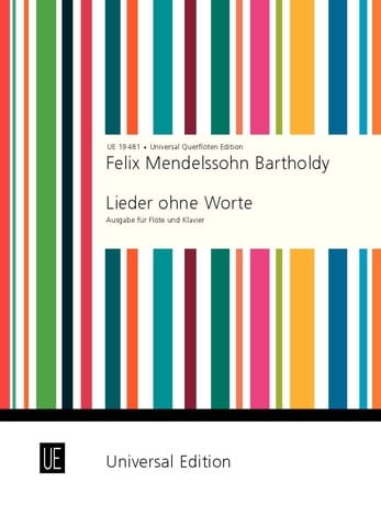 Lieder ohne Worte - Flûte et piano - MENDELSSOHN - laflutedepan.com