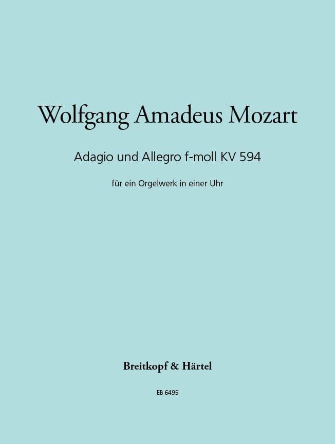 Adagio Und Allegro F-Moll, Kv 594 - MOZART - laflutedepan.com