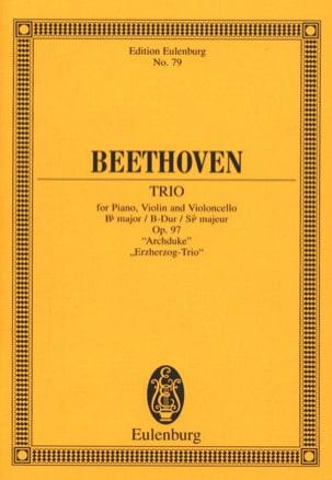 Trio en Si B Majeur pour Piano Violon et Violoncelle Op. 97 - laflutedepan.com