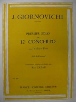 1er Solo du Concerto n° 12 Jarnovic Giornovichi Partition laflutedepan