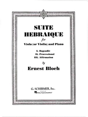 Suite hébraïque BLOCH Partition Alto - laflutedepan