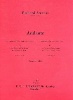 Andante Richard Strauss Partition Violoncelle - laflutedepan