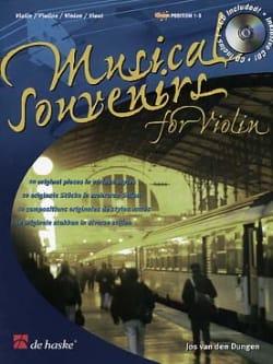 Musical Souvenirs - Violon Jos van den Dungen Partition laflutedepan