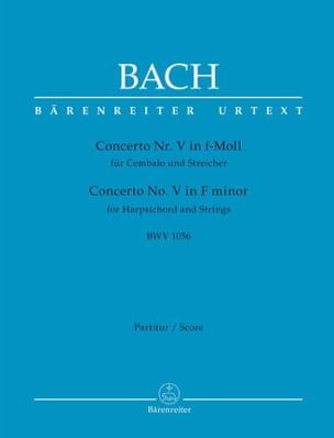 Concerto n° 5, BWV 1056 BACH Partition Grand format - laflutedepan