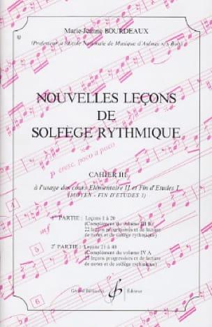 Nouvelles lecons de solfège rythmique Volume 3 - laflutedepan.com