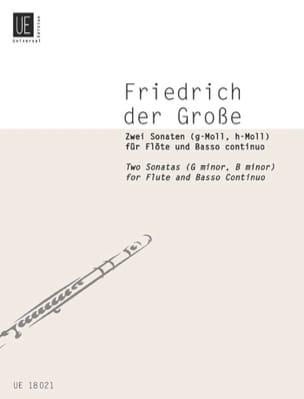 2 Sonaten - Flöte und Basso Continuo der Grosse Friedrich laflutedepan