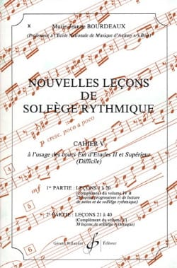 BOURDEAUX - New lessons in rhythmic solfeggio Volume 5 - Partition - di-arezzo.co.uk
