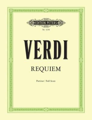 Requiem - Partitur VERDI Partition Grand format - laflutedepan
