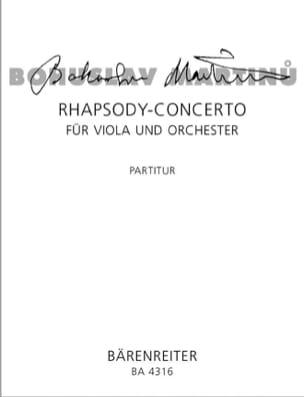 Rhapsody Concerto für Viola und Orch. - Partitur MARTINU laflutedepan