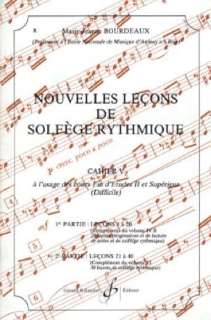 Nouvelles lecons de solfège rythmique Volume 5 - laflutedepan.com