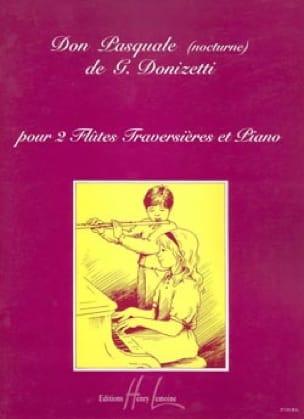 Don Pasquale Nocturne - 2 Flûtes piano - DONIZETTI - laflutedepan.com