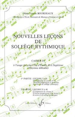 Nouvelles lecons de solfège rythmique Volume 4 BOURDEAUX laflutedepan