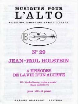 Cordes Lisses et Cordes à Noeuds N°3 Jean-Paul Holstein laflutedepan