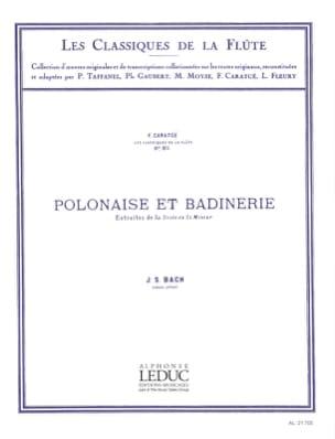Polonaise et Badinerie - Flûte piano BACH Partition laflutedepan