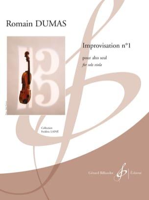 Improvisation n°1 Romain Dumas Partition Alto - laflutedepan
