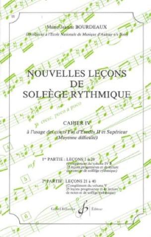 Nouvelles lecons de solfège rythmique Volume 4 - laflutedepan.com