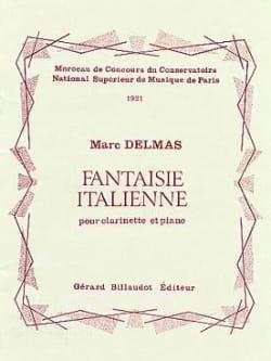 Fantaisie italienne Marc Delmas Partition Clarinette - laflutedepan