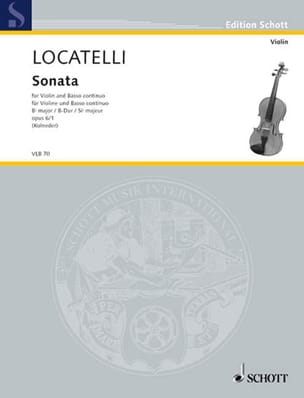 Sonate B-Dur op. 6 n° 1 LOCATELLI Partition Violon - laflutedepan