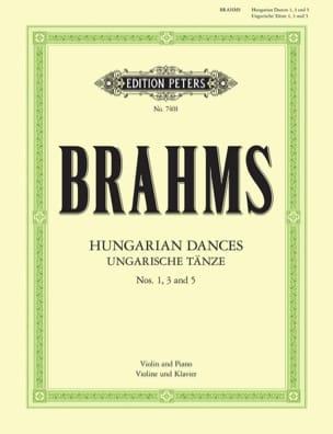 Ungarische Tänze n° 1, 3 et 5 BRAHMS Partition Violon - laflutedepan