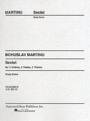 Sextet -Strings - Score MARTINU Partition Grand format - laflutedepan