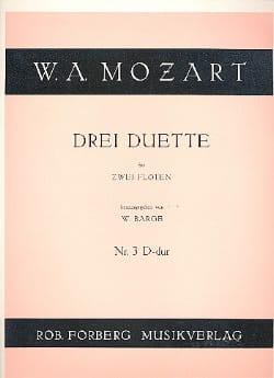 3 Duette - Nr. 3 D-Dur - 2 Flöten MOZART Partition laflutedepan