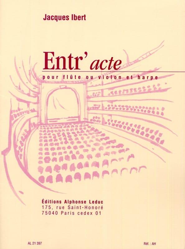 Entr'acte - Flûte harpe - IBERT - Partition - Duos - laflutedepan.com