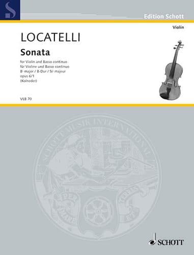 Sonate B-Dur op. 6 n° 1 - LOCATELLI - Partition - laflutedepan.com