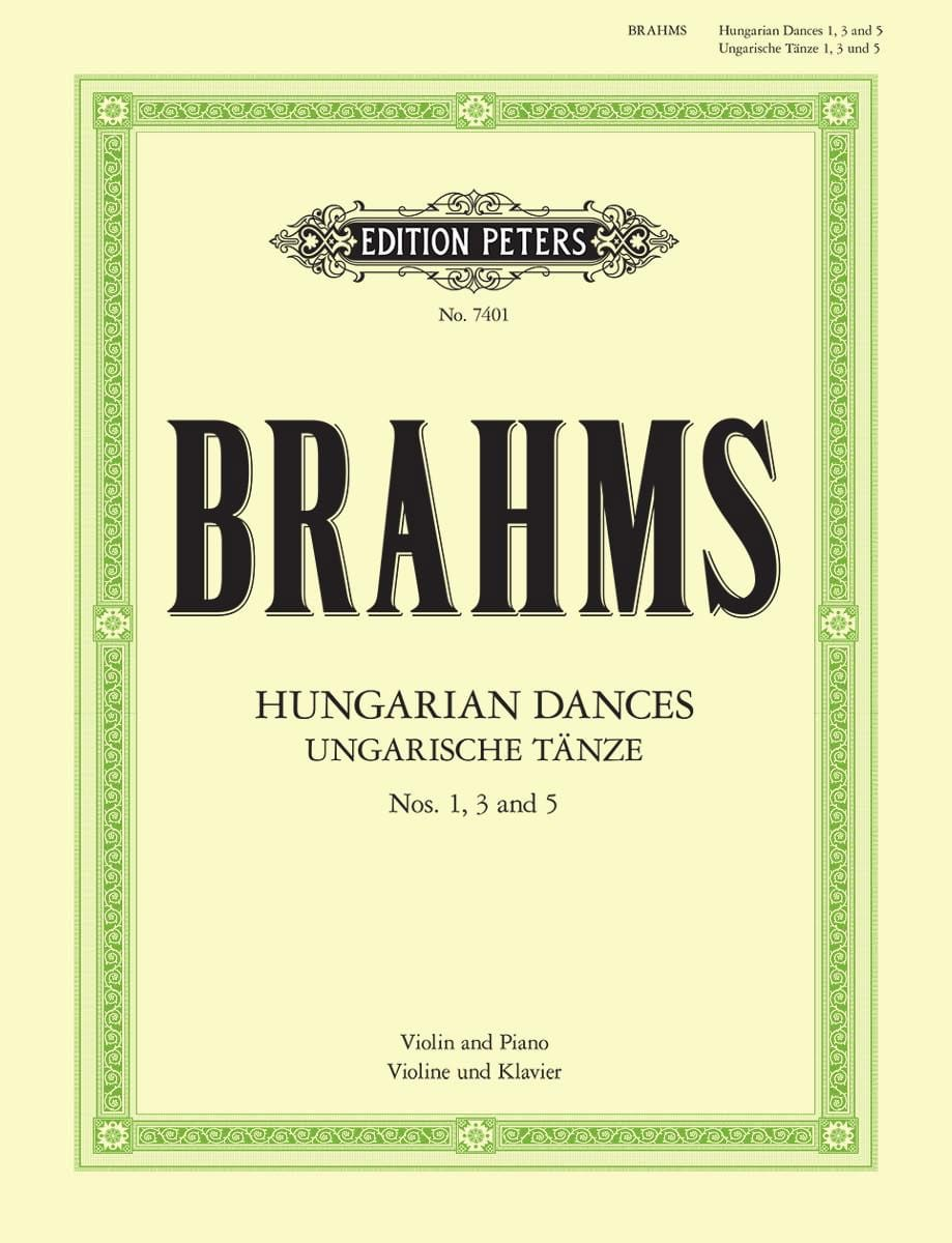 Ungarische Tänze n° 1, 3 et 5 - BRAHMS - Partition - laflutedepan.com