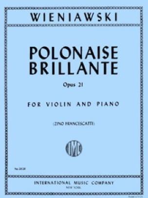 Polonaise Brillante Op. 21 En la Majeur - WIENAWSKI - laflutedepan.com