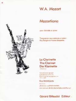 Mozartiana Mozart Wolfgang Amadeus / Dangain Guy laflutedepan
