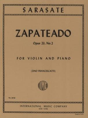 Zapateado op. 23 n° 2 SARASATE Partition Violon - laflutedepan