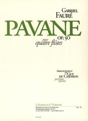 Pavane op. 50 - 4 Flûtes FAURÉ Partition laflutedepan