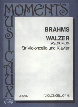 Valse op. 39 n° 15 - BRAHMS - Partition - laflutedepan.com
