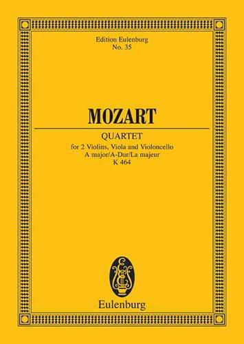 Streich-Quartett A-Dur Kv 464 - MOZART - Partition - laflutedepan.com