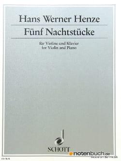 5 Nachtstücke Hans Werner Henze Partition Violon - laflutedepan