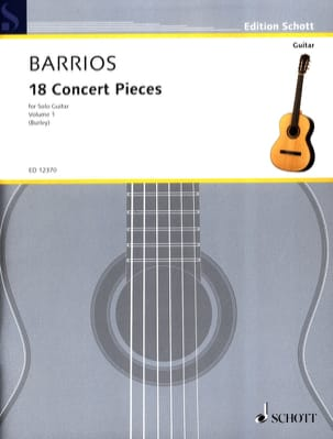18 Concert Pieces, Bd 1 Mangore Agustin Barrios Partition laflutedepan
