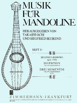 Invention / 3 Mementos -2 Mandolinen Siegfried Behrend laflutedepan