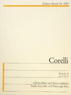 Sonata I C-Dur CORELLI Partition Flûte à bec - laflutedepan