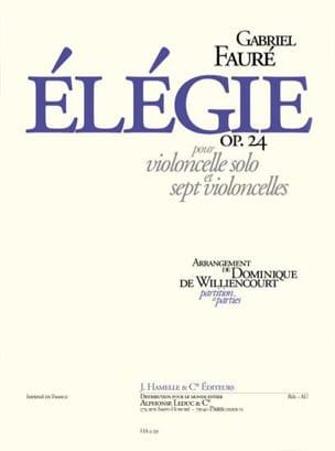 Elégie op. 24 - Violoncelles FAURÉ Partition laflutedepan