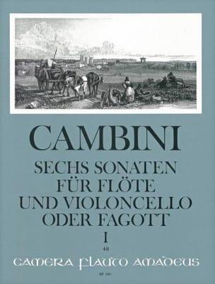 6 Sonates Volume 1 Giuseppe Maria Cambini Partition laflutedepan