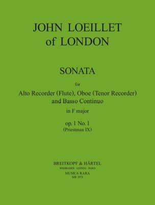 Sonata in f major op. 1 n° 1 -Treble recorder Oboe Bc laflutedepan