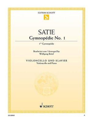 Première Gymnopédie SATIE Partition Violoncelle - laflutedepan