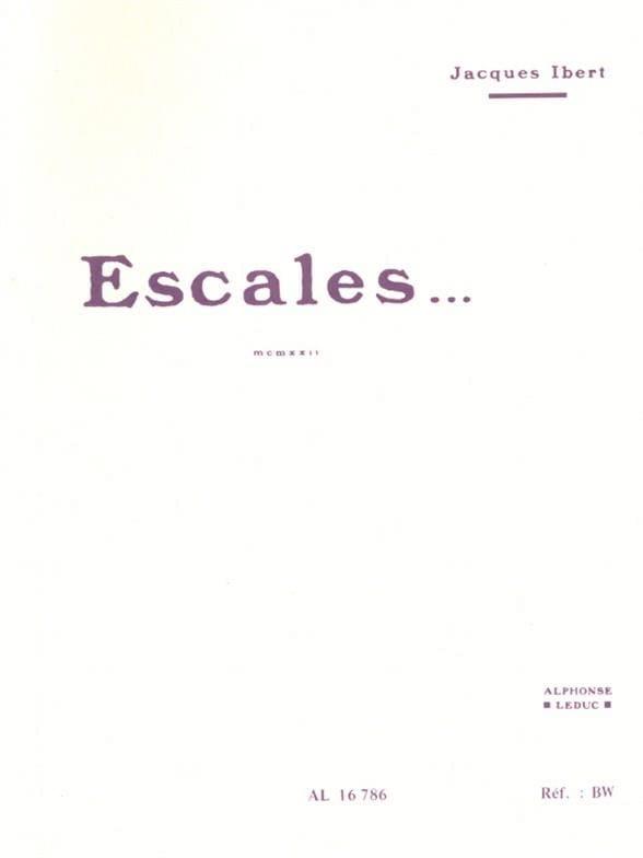 Escales ... - Conducteur - IBERT - Partition - laflutedepan.com