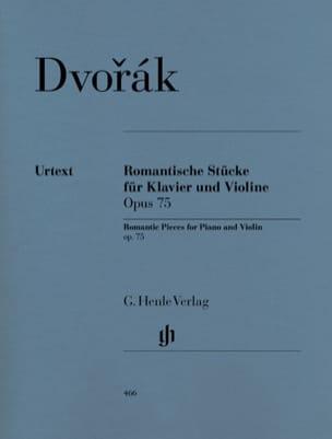 Pièces romantiques op. 75 DVORAK Partition Violon - laflutedepan