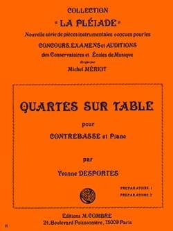 Quartes sur table Yvonne Desportes Partition laflutedepan
