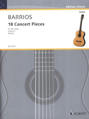 18 Concert Pieces, Volume 2 Mangore Agustin Barrios laflutedepan