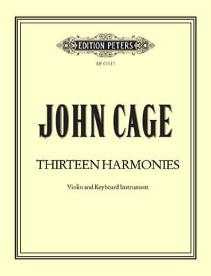 Thirteen Harmonies CAGE Partition Violon - laflutedepan